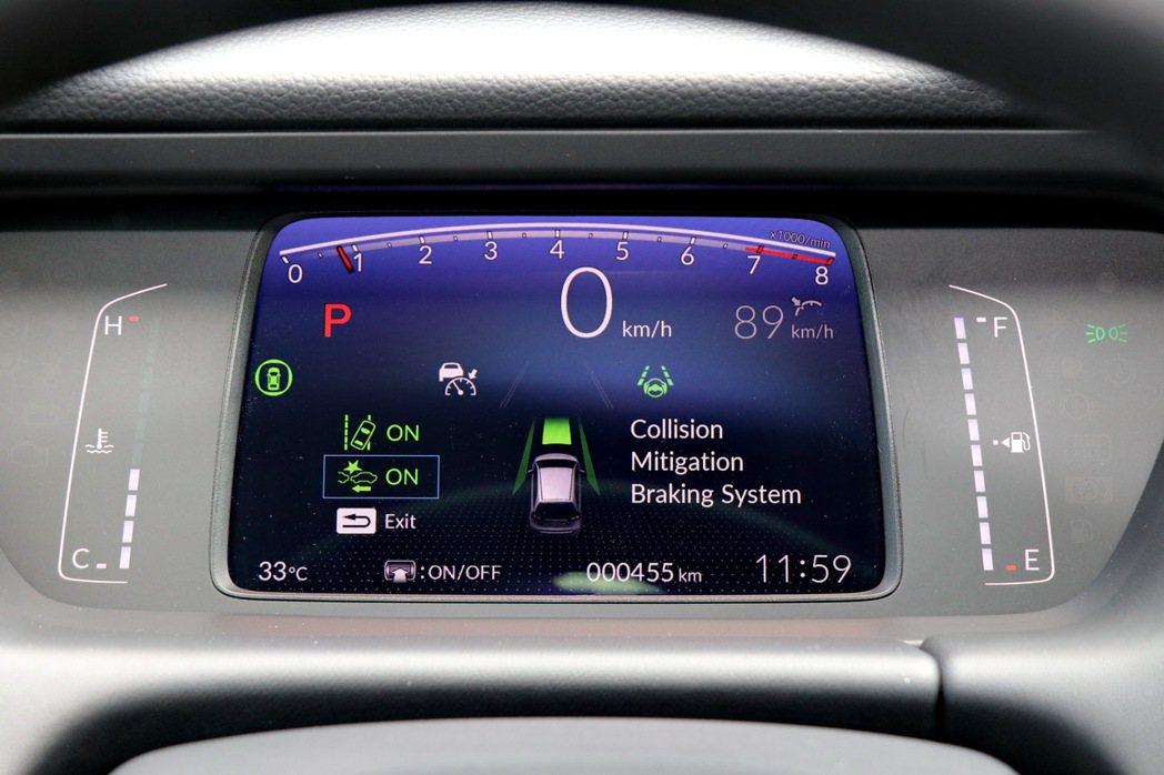 第四代Fit首度將Honda Sensing列為標準配備。 記者陳威任/攝影
