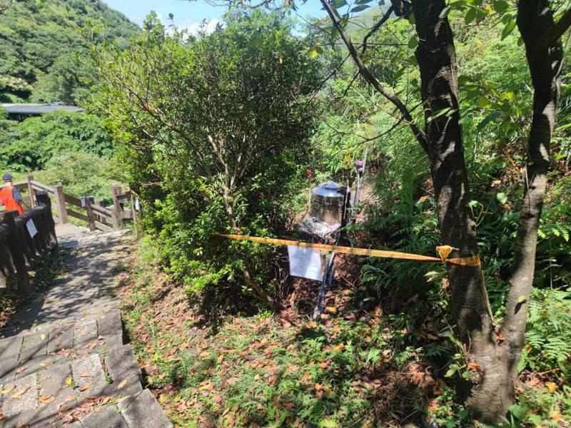 瑞芳茶壺山支線步道500公尺暫封,維護安全等巴拉刈檢驗。記者游明煌/翻攝
