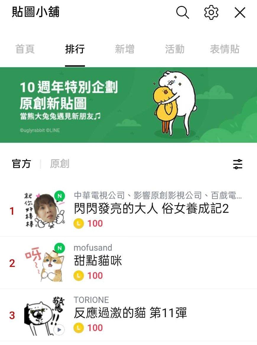 「俗女2」推出LINE貼圖。圖/華視提供