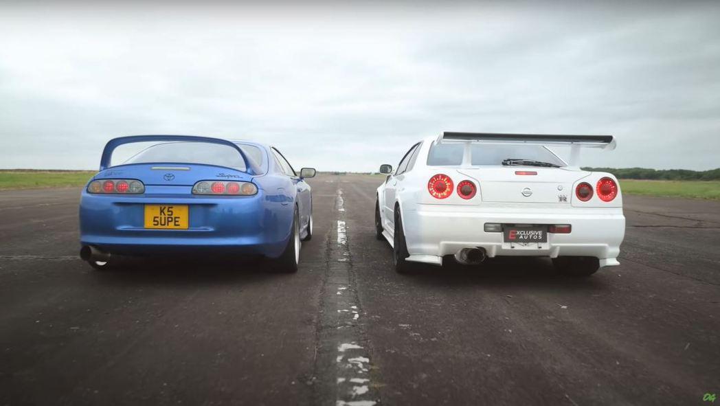 800匹 Nissan Skyline GT-R單挑900匹Toyota Sup...