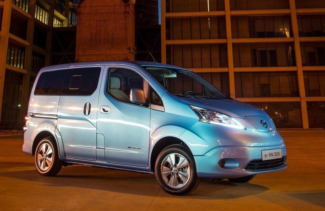 Nissan e-NV200純電商用MPV。 摘自Nissan