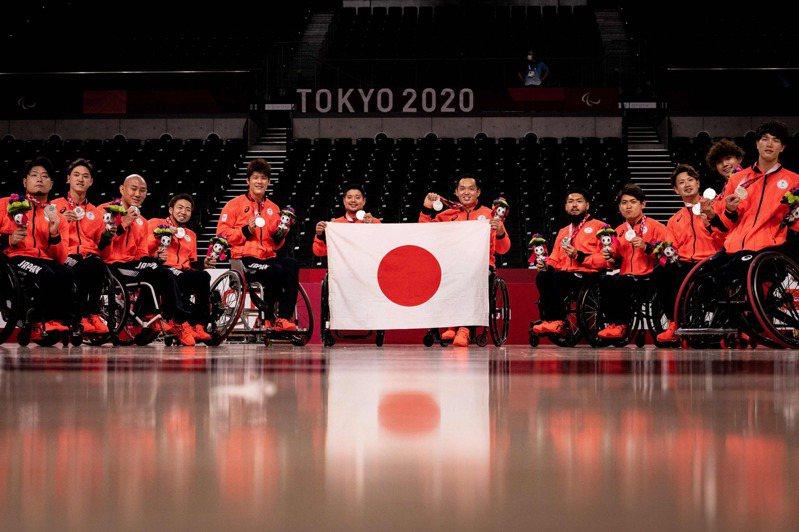 帕運日本輪椅籃球獲銀牌。 法新社