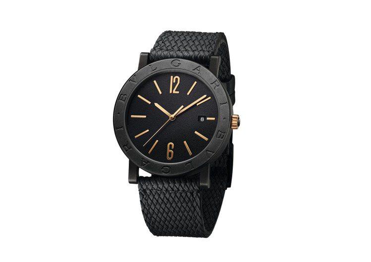 BVLGARI BVLGARI系列黑色DLC類鑽碳精鋼41毫米自動腕表,約13萬...
