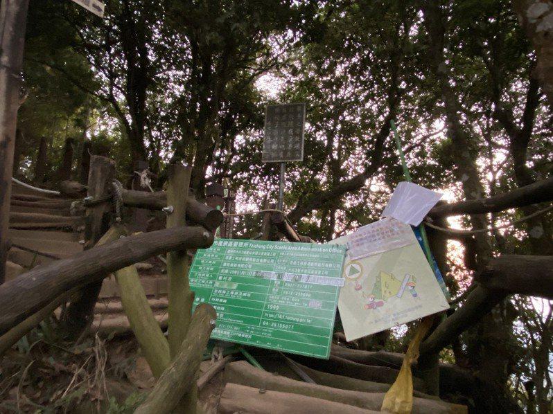 台中市大坑步道以相思木樹幹搭建而成,相當有特色,但維修保養相當費功夫,得花不少時間封閉更換。記者江良誠/攝影