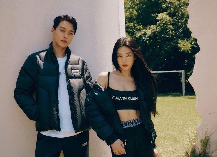 韓國男星張基龍(左)與女團Red Velvet成員Joy。圖/摘自faceboo...