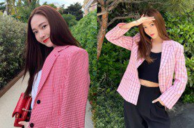 Jessica鄭秀妍原來是個格紋控~盤點她四種「-5歲」的減齡格紋穿搭