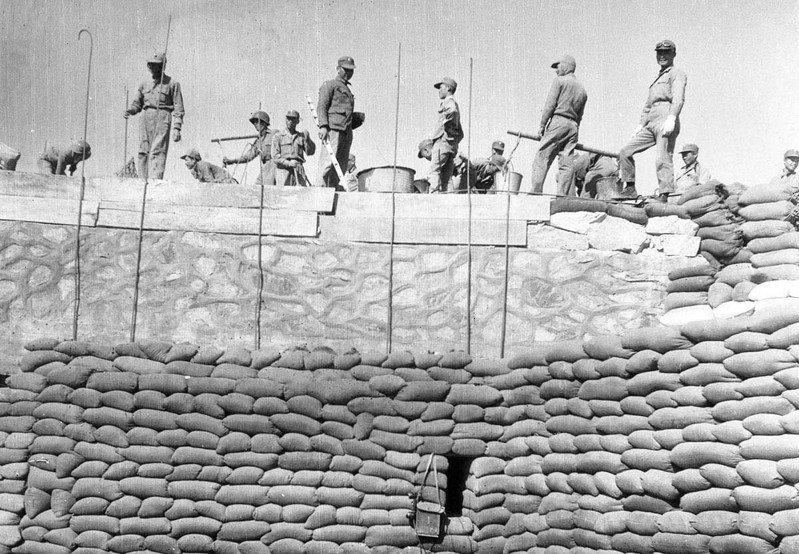 圖為八二三砲戰金門防禦工事。圖/聯合報系資料照片