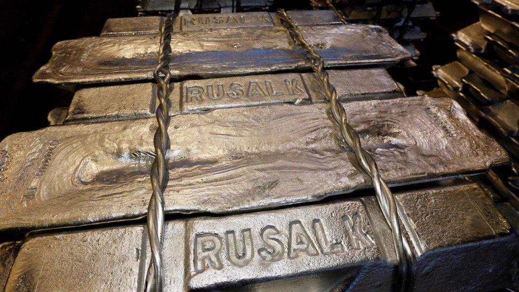 國際鋁價飆漲至10年新高。(路透)