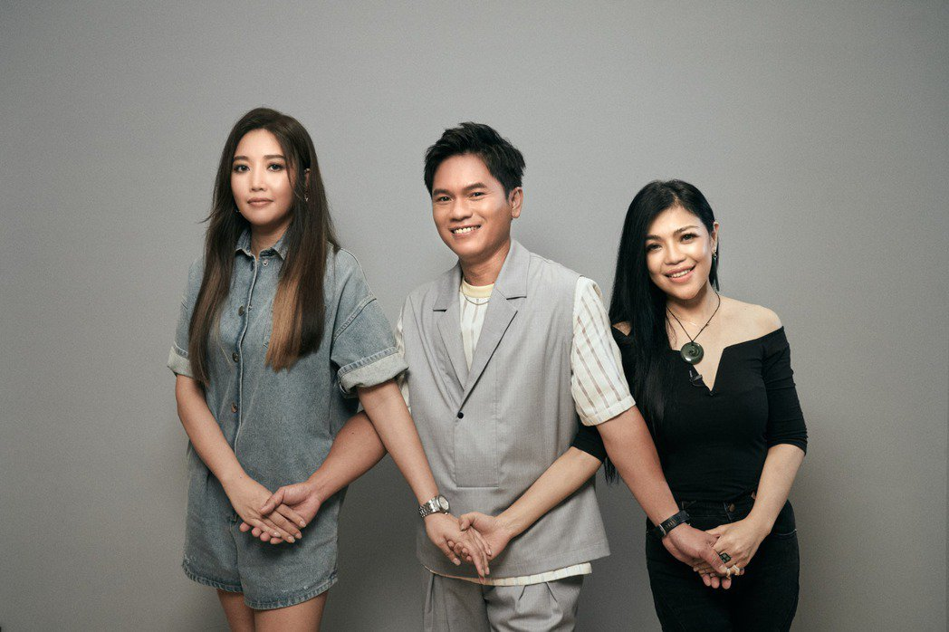 台灣三位音樂人A-Lin(左起)、舒米恩、阿洛。圖/阿洛無限提供