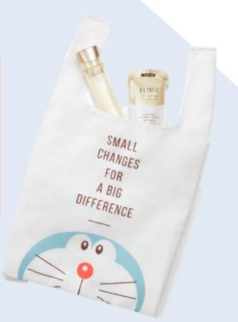 哆啦A夢&怡麗絲爾推出聯名,滿額送購物袋。圖/怡麗絲爾提供