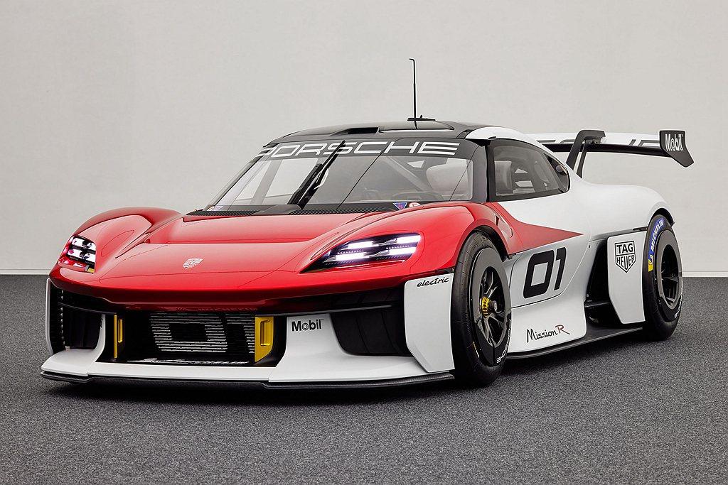 保時捷於德國IAA車展開幕前夕向世人展示Mission R concept概念車...