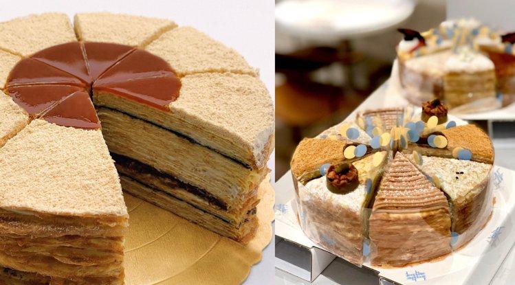 深藍咖啡館蛋糕示意圖,實際口味以現場為準。圖/深藍咖啡館臉書專頁