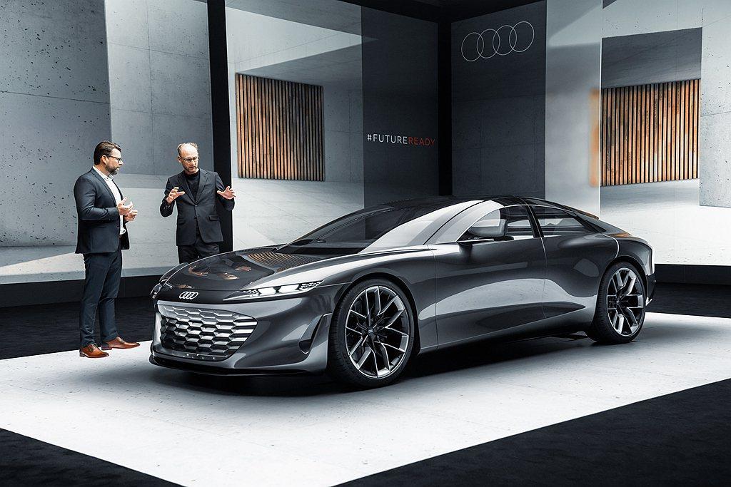 Audi grandsphere概念車為豪華轎跑設定下進行發展,設計團隊注入Au...