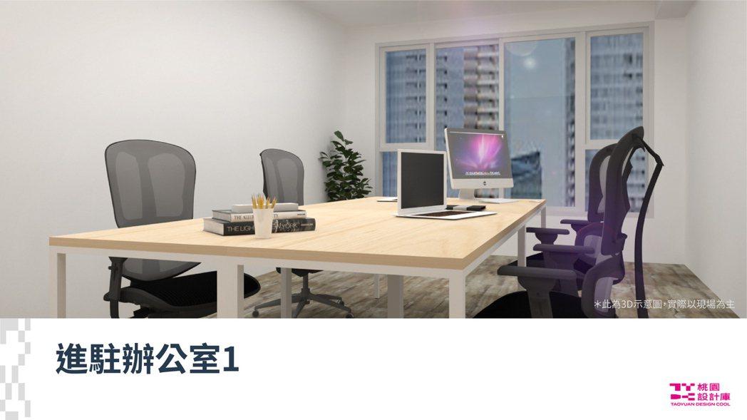 進駐辦公室。 桃園設計庫室/提供