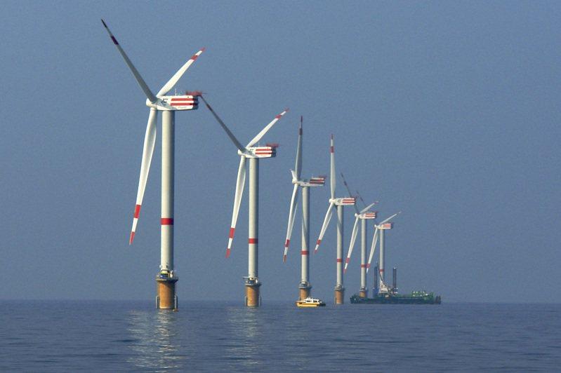 英國北海的離岸風電開發順利,目前成本已經低於燃油能源。美聯社