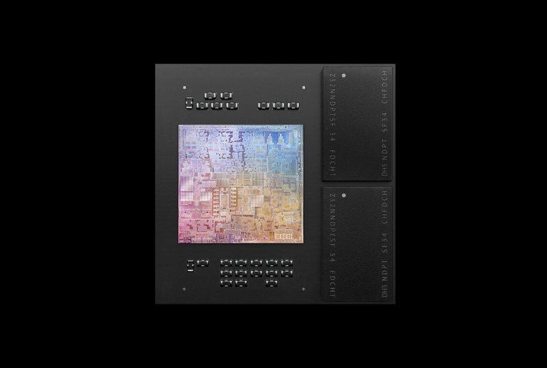 蘋果2020年11月發表自主研發的M1晶片。歐新社