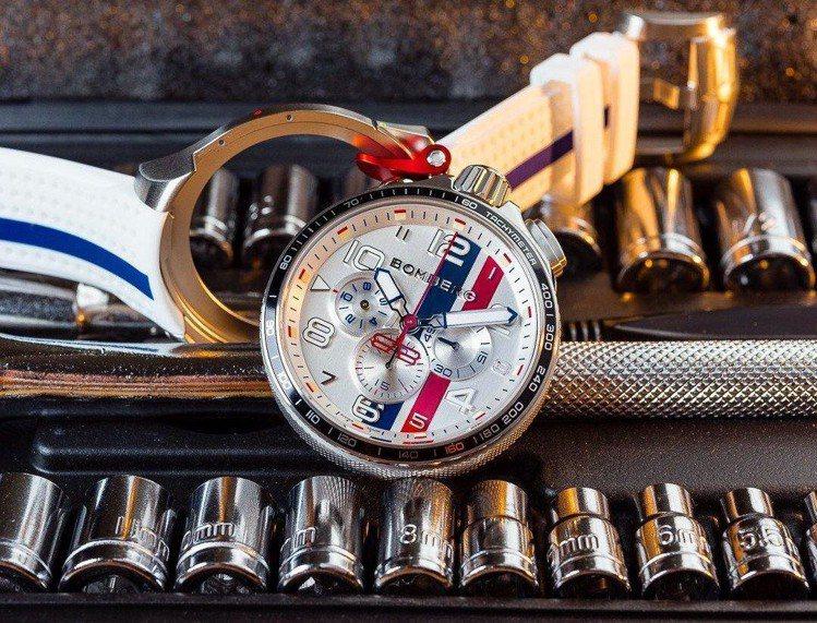 特殊的表殼設計、從手榴彈插銷得到靈感的計時按鈕,都讓BOMBERG手表展現精準之...