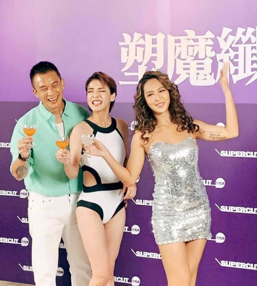 徐小可夫妻和薔薔一起歡慶瘦身有成。圖/摘自臉書