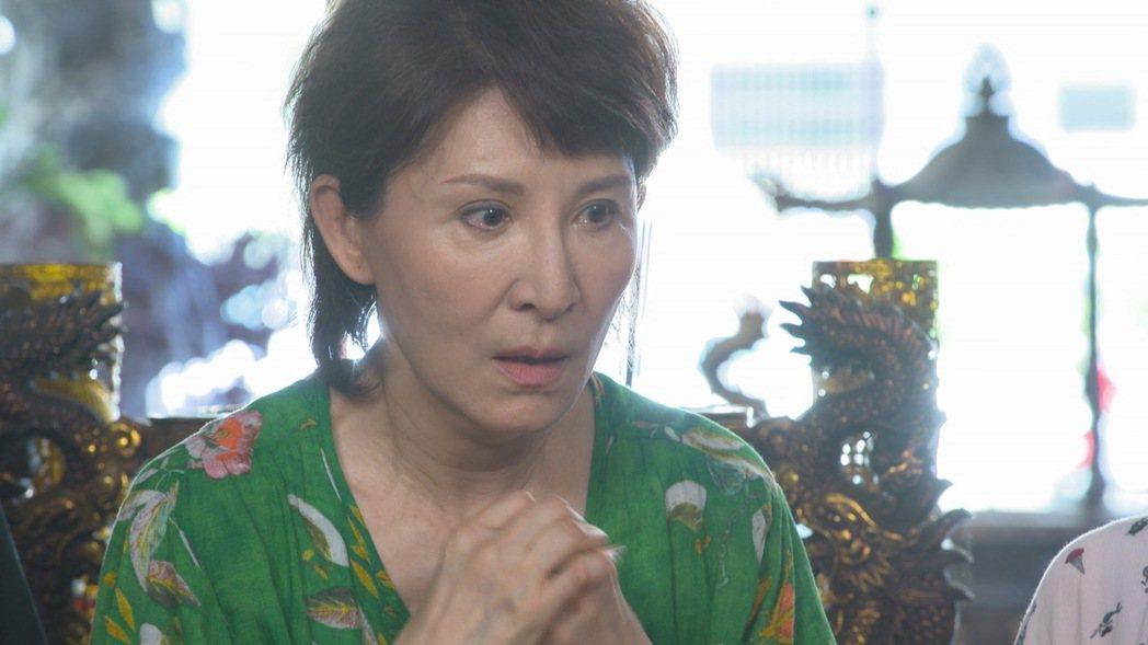 趙心妍在劇中被家人帶去廟宇求助神明。圖/民視提供