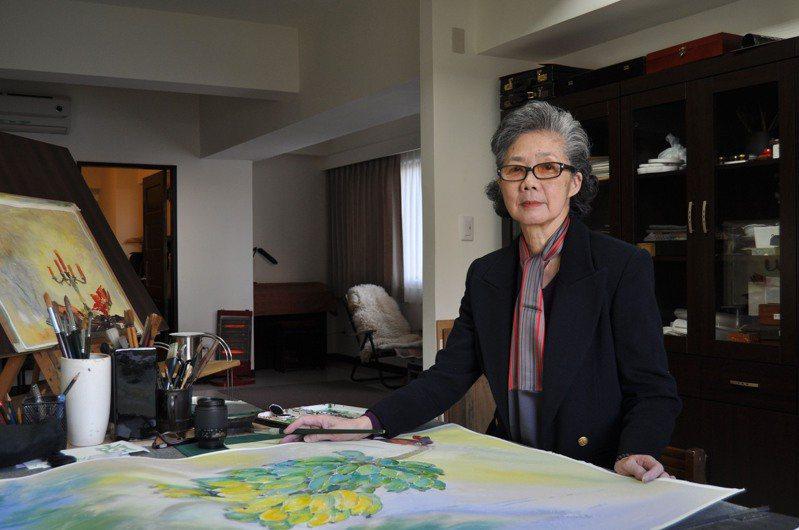 水彩畫家梁丹丰在銘傳大學任教52年,9月6日晚上辭世。圖/銘傳大學提供