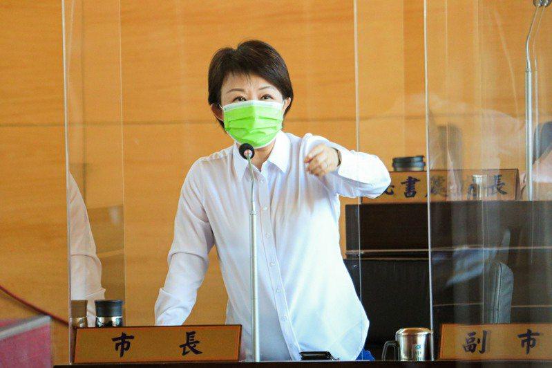台中市長盧秀燕說,她上班不談選舉,但1縣市好不夠,中部7縣市要共好。圖/台中市新聞局提供