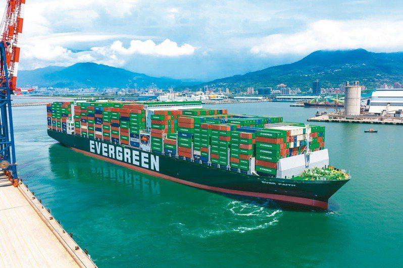 長榮海運示意圖。 報系資料照