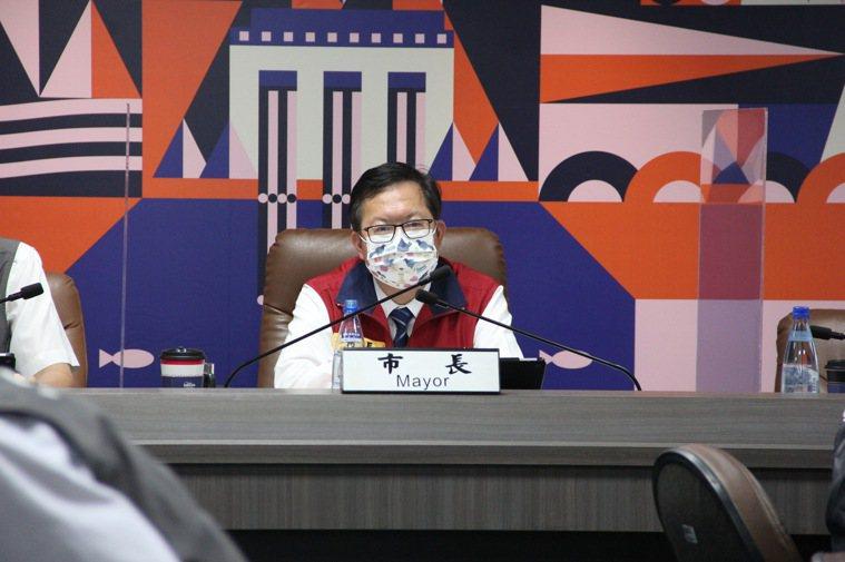 桃園市長鄭文燦今天指出疫情是在可控範圍。聯合報系資料照/記者陳俊智攝影