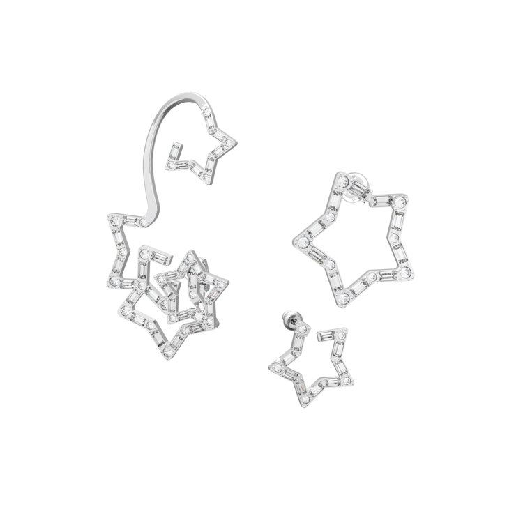 施華洛世奇Collection II系列Stella耳環套組,8,490元。圖/...