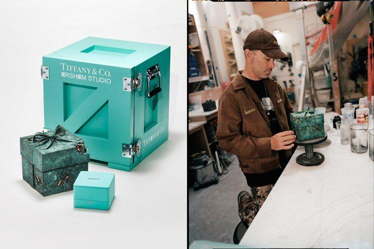 Tiffany攜手藝術家Daniel Arsham改造標誌性夢幻藍盒,限量雕塑全...
