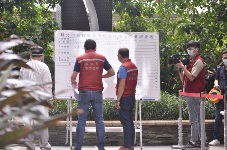 現場成立前進指揮所。記者張哲郢/攝影