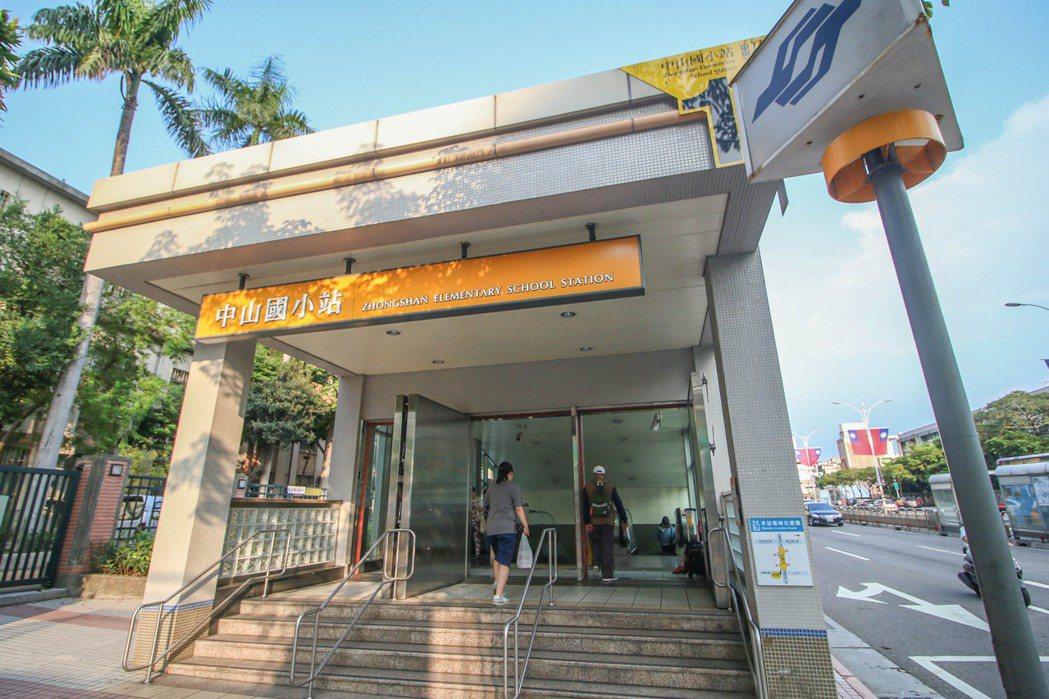 中山國小站近一年交易量更達425件,是交易最熱絡的捷運站。 永慶房產集團/提供