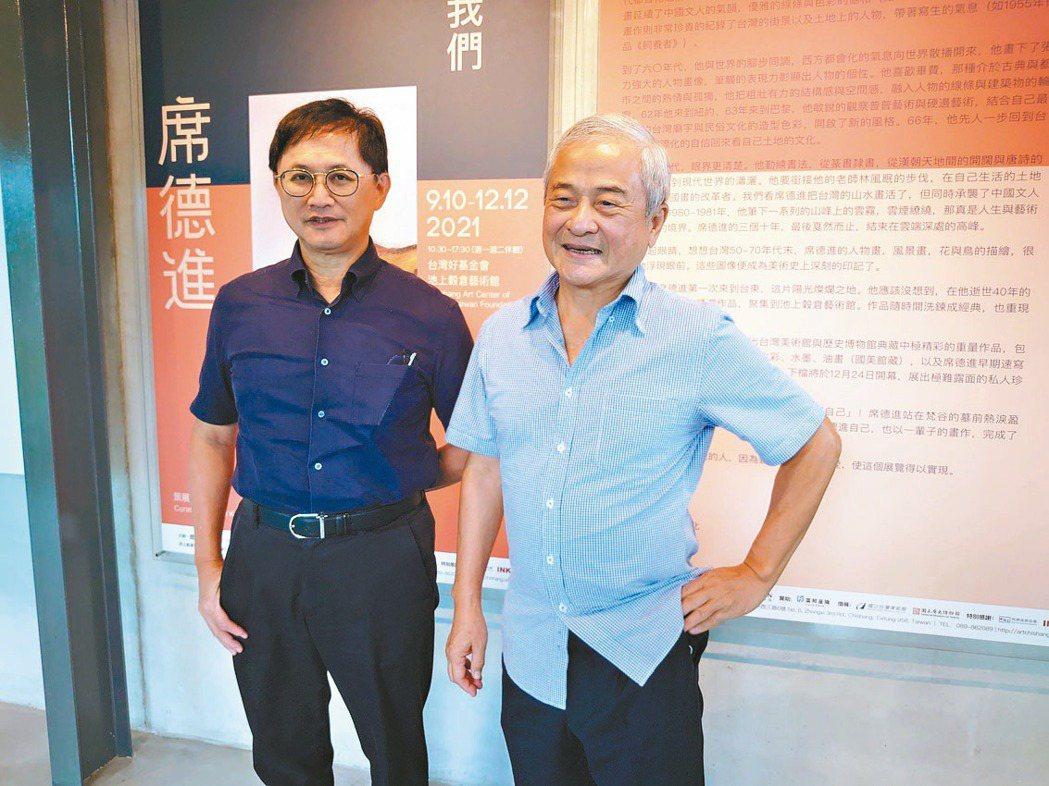 台灣好基金會董事長柯文昌(右)與和碩董事長童子賢(左)。記者何秀玲/攝影