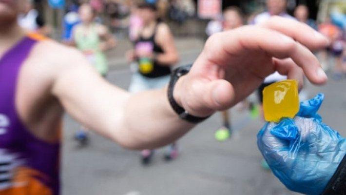 這款包裝的大型版可用於賽跑競賽或是其他大型活動。 圖/Notpla