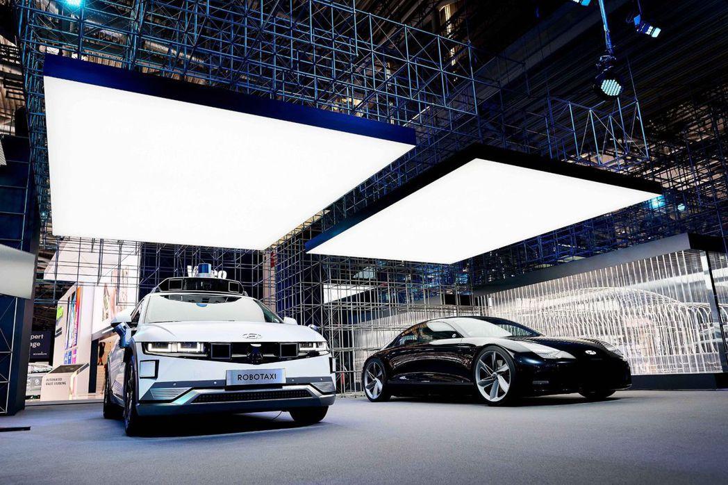 現身在慕尼黑車展中的Hyundai IONIQ 5 Robotaxi與預覽未來I...