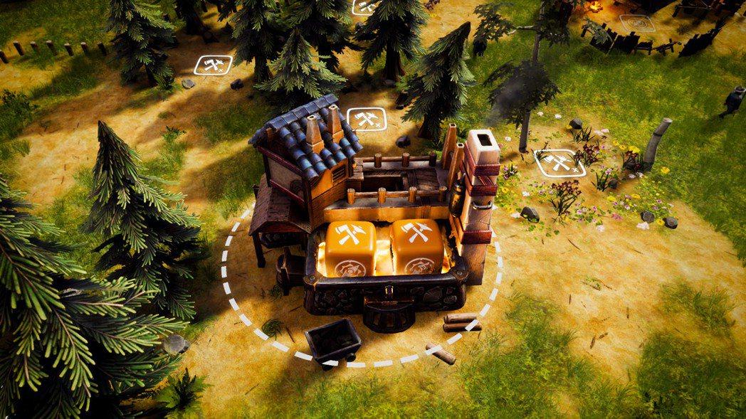 利用骰子來收集荒地上的資源