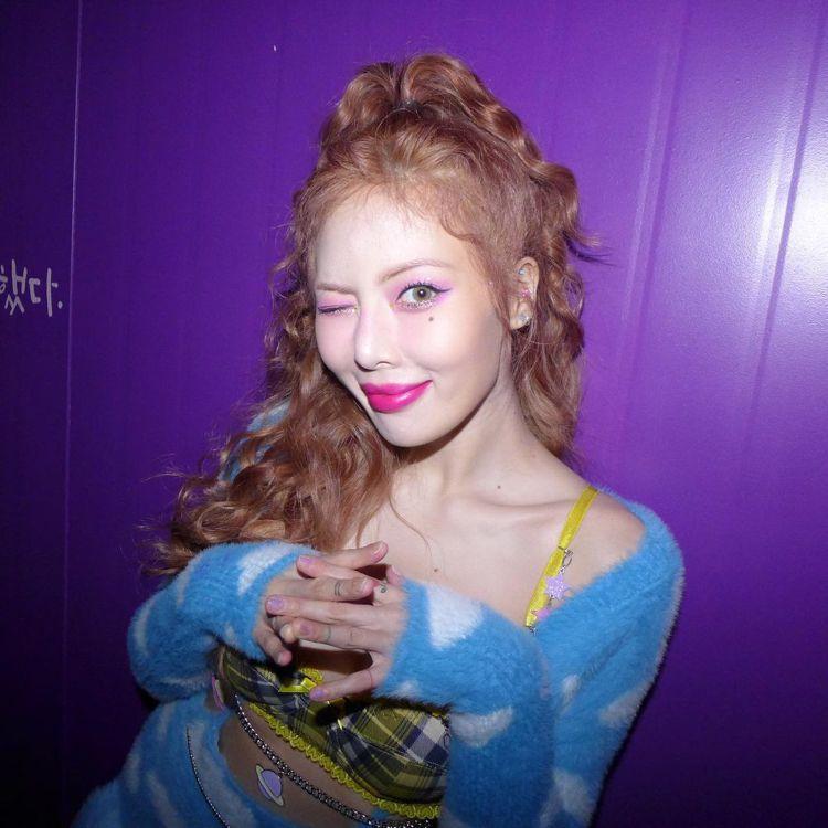 韓國女星泫雅。圖/摘自instagram
