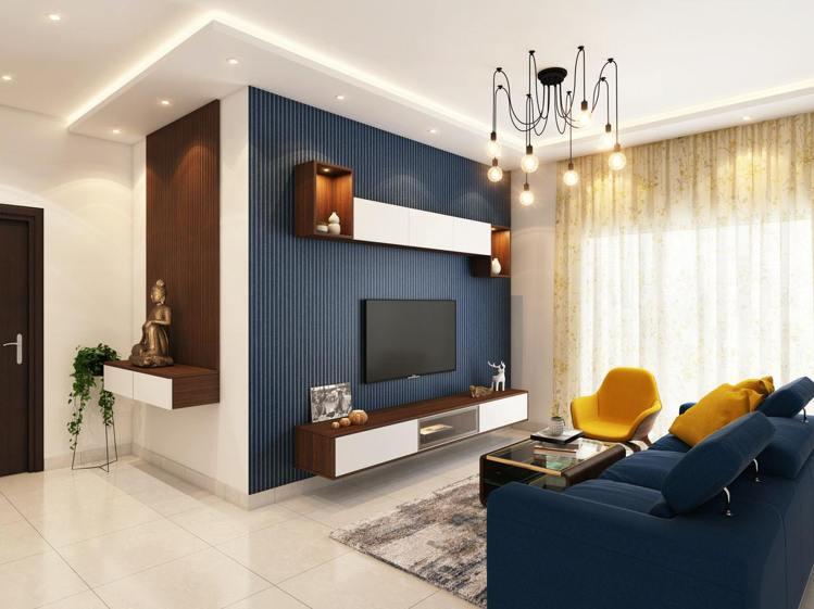 電視可掛牆上,減少居家氛圍凌亂感,同時也能在這公共空間帶來溫馨。圖/摘自pexe...