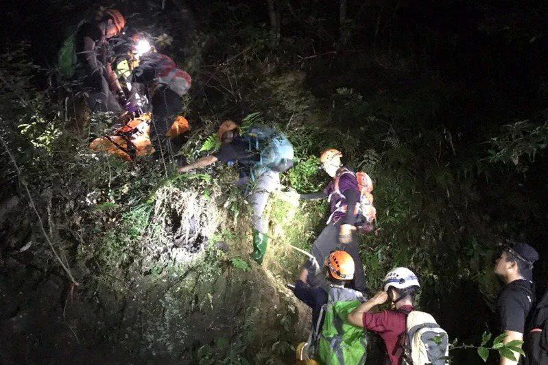 8月底,27人登山隊桃園復興赫威神木迷途,消警11小時成功救援,近4天發生3件。路線不熟、微解封一個多月地貌植物變化大、裝備不足是主因。 圖/聯合報系資料照片
