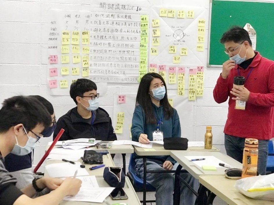 明志科大透過設計思考課程讓不同科系學生針對問題進行討論,再由老師進行可行方案檢討...
