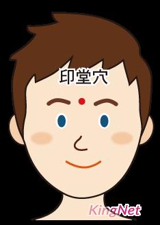 印堂穴提神 圖/KingNet 國家網路醫藥