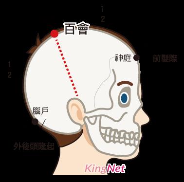 百會穴提神 圖/KingNet 國家網路醫藥