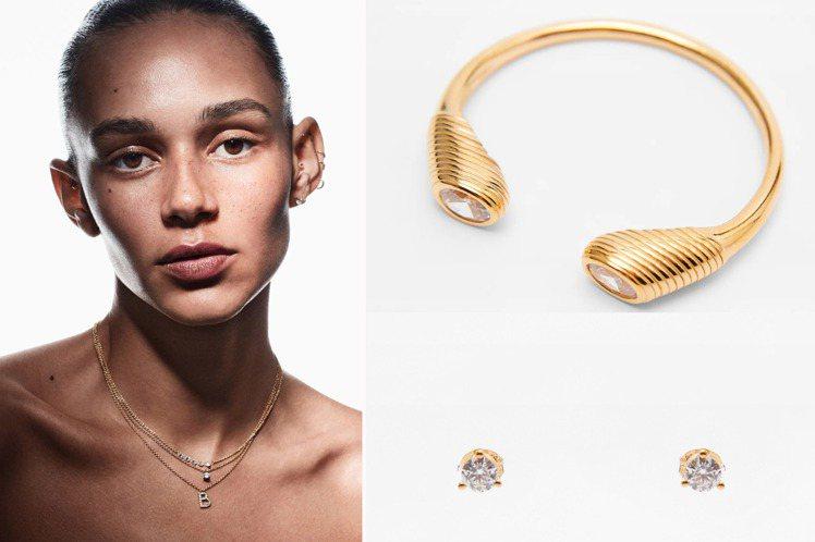 ZARA進軍輕珠寶市場,採用純銀鍍金的材質,搭配鋯石,訂價同樣依循品牌定位,走親...