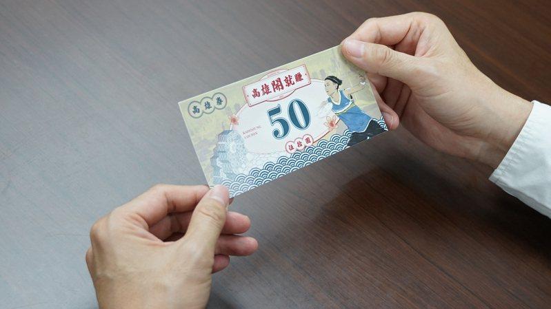 高雄市政府加碼1千元高雄券,不限戶籍在高雄的人才能使用。圖/高市府提供