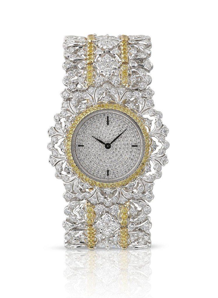 微風廣場全球獨家,引進BUCCELLATI Bijou Watch系列腕表。圖/...