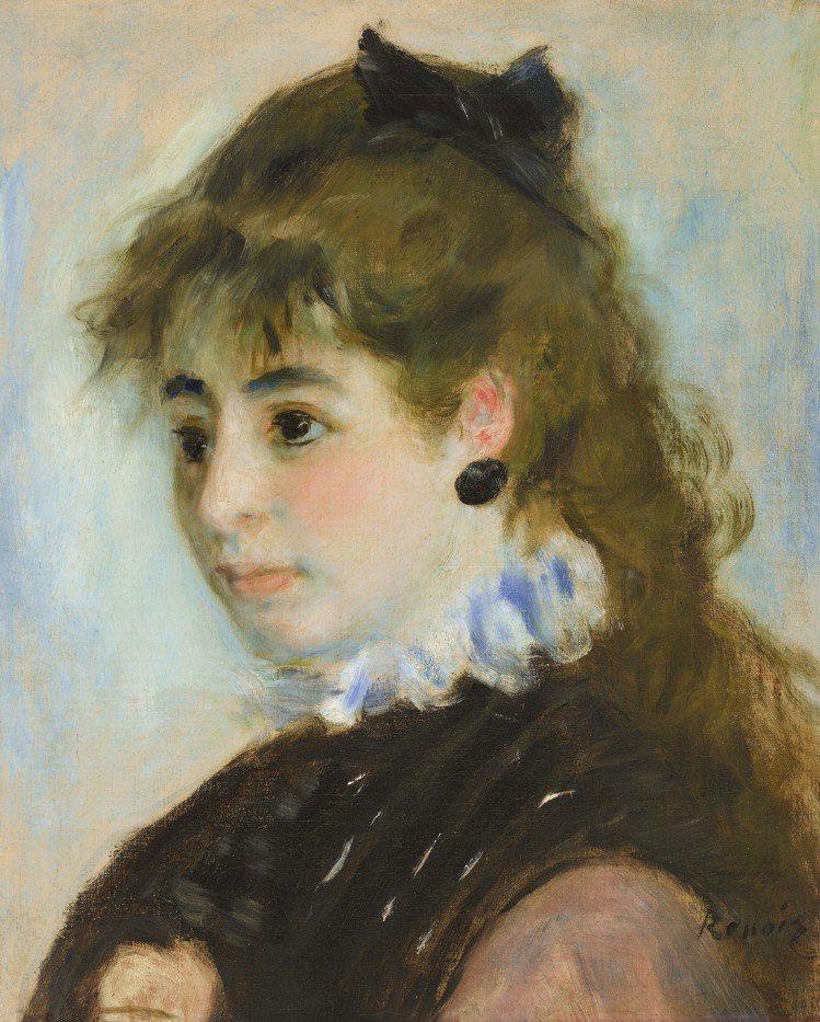 雷諾瓦「安麗歐夫人」(左下簽名),1874年作,估價約70萬美元起。圖/佳士得提...