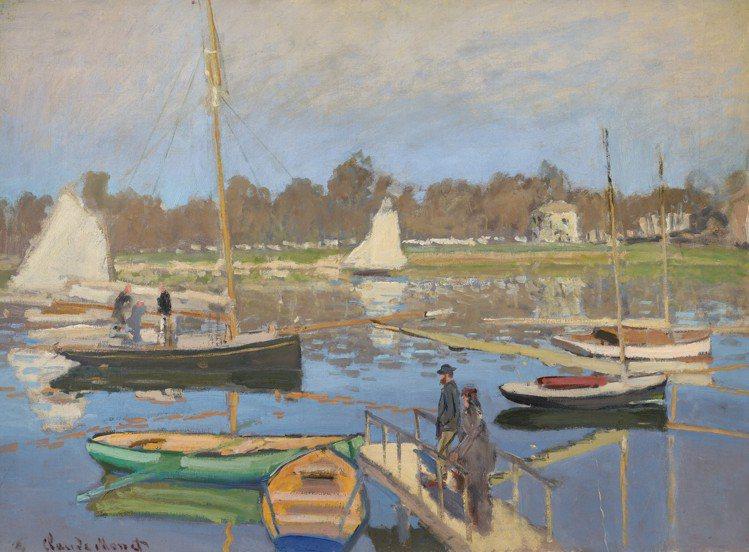 克勞德莫內「阿讓特伊的風光」(左下簽名)1874年作,估價約1,500萬美元起。...