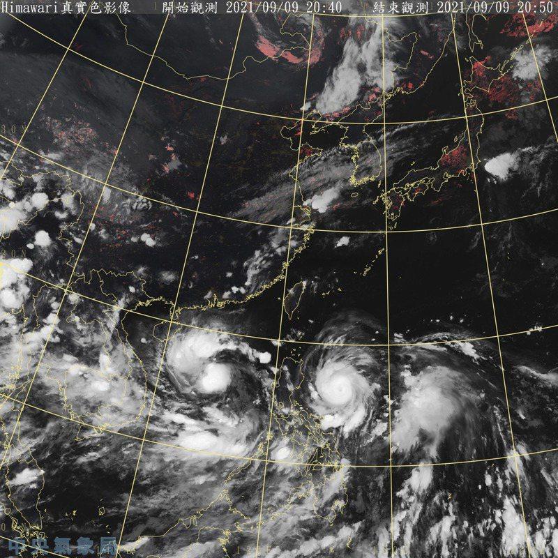 強颱璨樹衛星雲圖。圖/氣象局