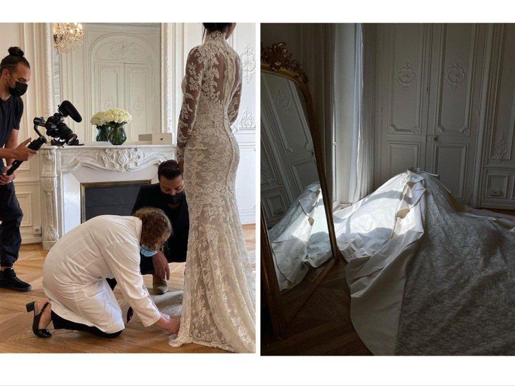 Jasmine Tookes的Zuhair Murad絕美婚紗,裙襬可拆卸穿搭。...