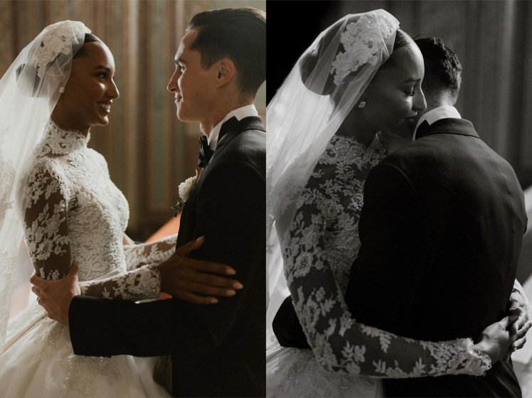 Jasmine Tookes和Juan David Borrero的婚紗照浪漫甜...