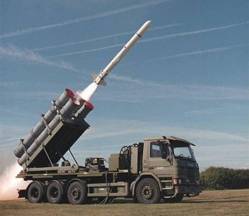 魚叉岸防飛彈系統。 圖/Boeing